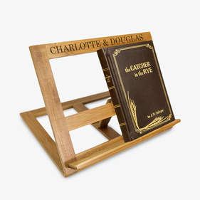 Custom Name Bamboo Book Stand