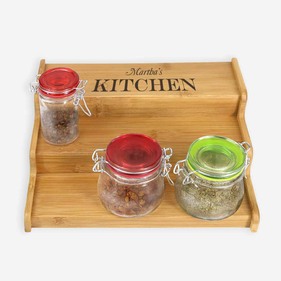 Personalized Kitchen Organizer Spice Rack