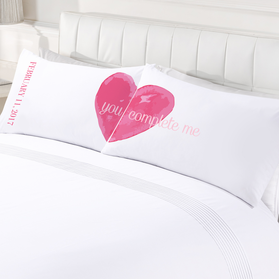 Custom You Complete Me Couples Pillowcases