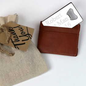 Customized Credit Card Bottle Opener Gift Wrapped