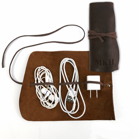 Customized Genuine Leather Multi Cord Small Organizer