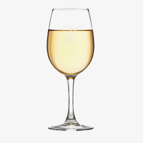 Customized Initial Arc Cachet White Wine Glass