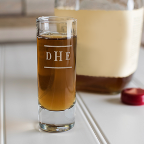 Customized Initial Tall Cordial Shot Glass
