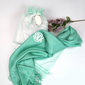 Customized Monogram Pashmina Scarf Gift Wrapped