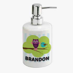 Cute Wise Owl Personalized Soap Dispenser