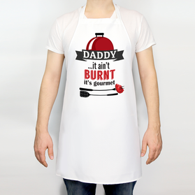 Daddy...It Ain't Burnt It's Gourmet Personalized Apron