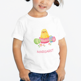 Easter Chick Personalized Kids T-Shirt