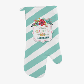 Easter Eggs Personalized Oven Mitt
