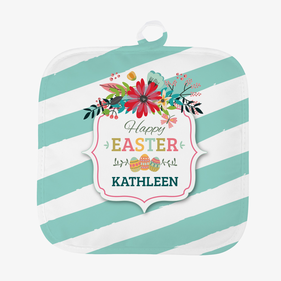 Easter Eggs Personalized Pot Holder