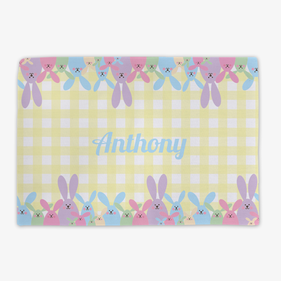 Egg Bunnies Personalized Placemat