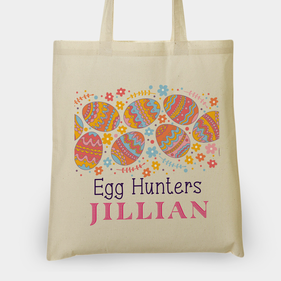 Egg Hunters Personalized Tote Bag