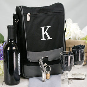 Embroidered Initial Barossa Wine Tote