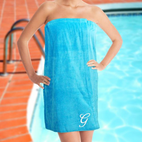 Embroidered Initial Spa Wrap