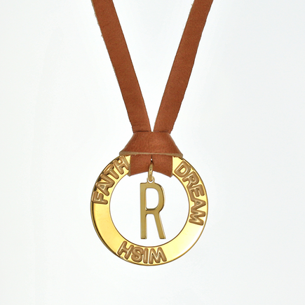 Faith Wish Dream Inspirational Custom Necklace with Initial