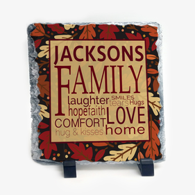 Family Name Personalized Slate With Stand
