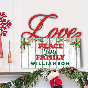 Fence Design Custom Love Wall Sign