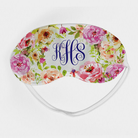 Spring Flowers Monogram Eye Mask