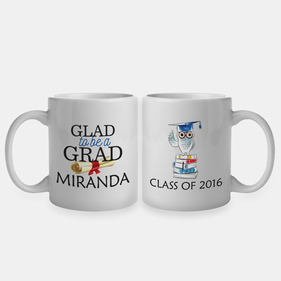 Glad To Be A Grad Personalized Coffee Mug