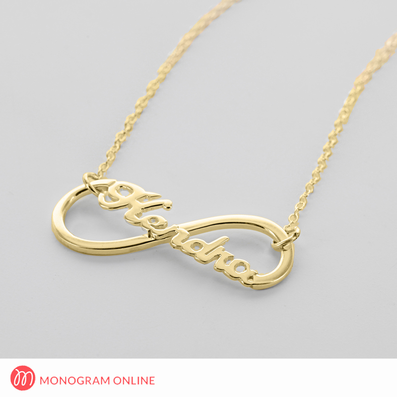 Sterling Silver Infinity Name Necklace Monogram Online