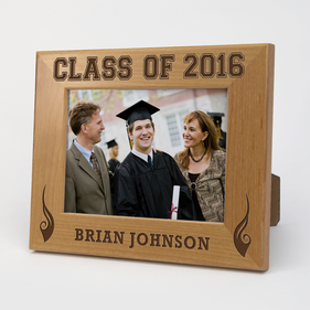 Graduating Class Genuine Red Alder Custom Picture Frame
