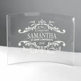 Graduation Jade Beveled Glass Crescent