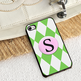 Green iPhone Case with Black Trim