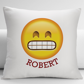 Grimacing Face Customized Emoji Decorative Cushion Cover
