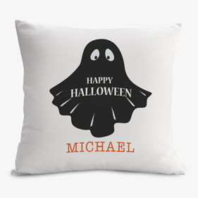 Halloween Friendly Ghost Decorative Cushion Cover