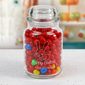 Happy Easter Personalized Glass Jar