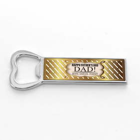 Happy Father's Day Personalized Bottle Opener Fridge Magnet