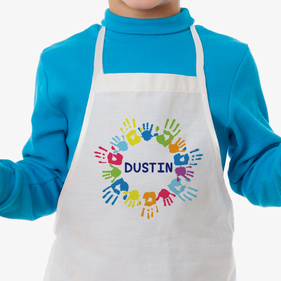 Happy Hands Personalized Kids Craft Apron