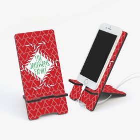 Happy Holidays Personalized Cell Phone Stand