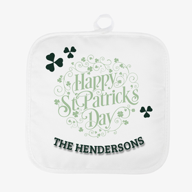 Happy St. Patrick's Day Custom Pot Holder