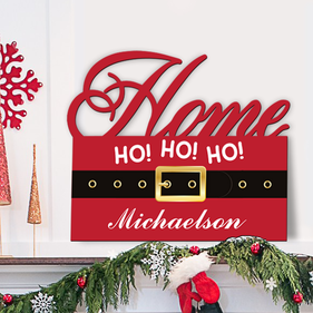 Santa Home Custom Wall Sign