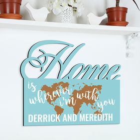 Home With You Personalized Wall Sign
