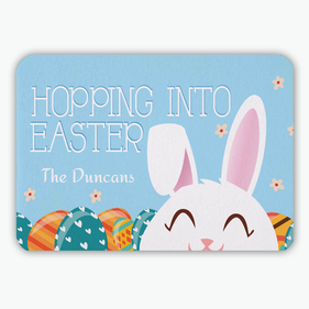 Hopping Into Easter Personalized Floor Mat