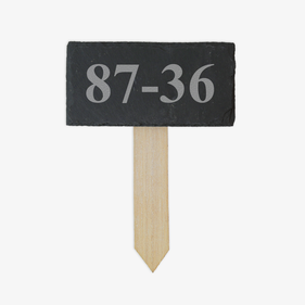 House Number Personalized Slate Garden Stick