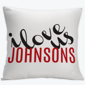 I Love Us Couples Custom Cushion Cover