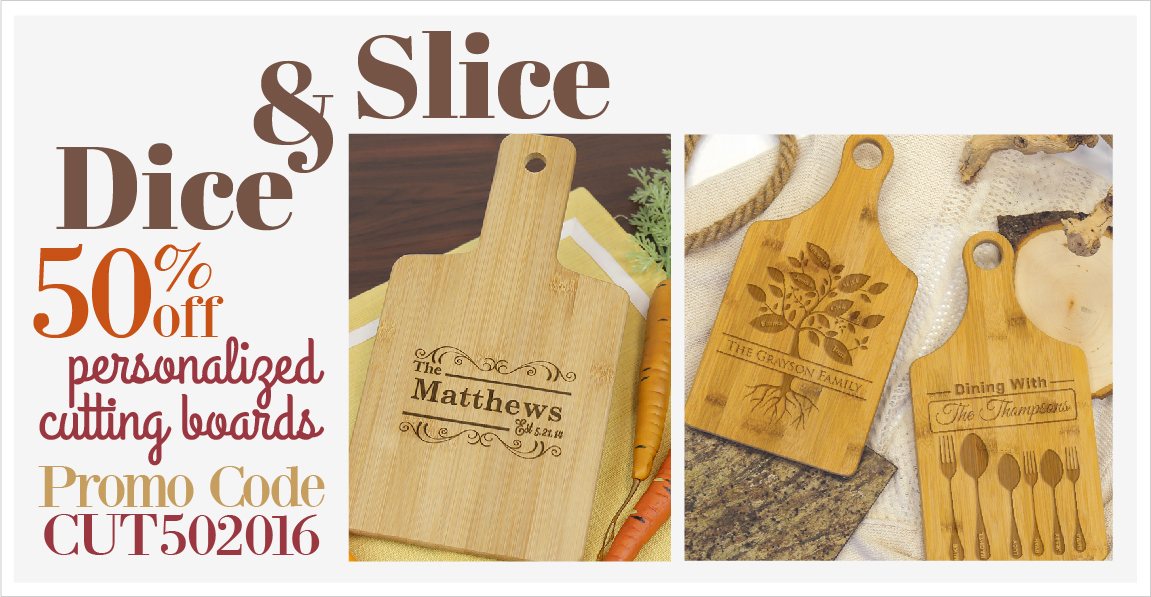 Personalized Cutting Boards-use code CUT502016 for 60% Off