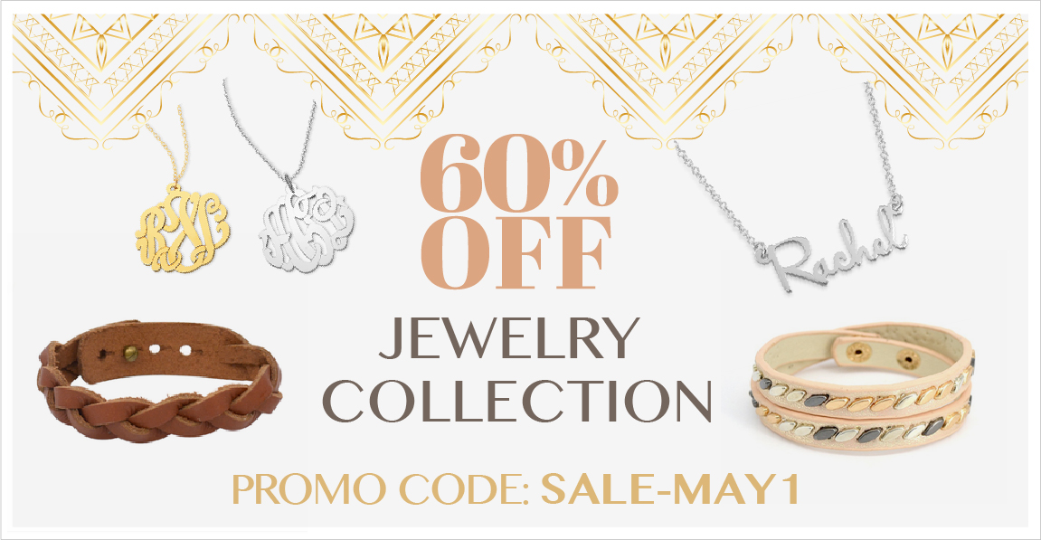 Personalized Jewelry Sale - use code SALE-MAY1 for 60% Off