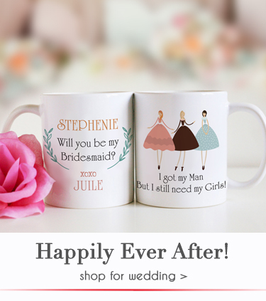 personalized wedding gifts for bridesmaid and bestman