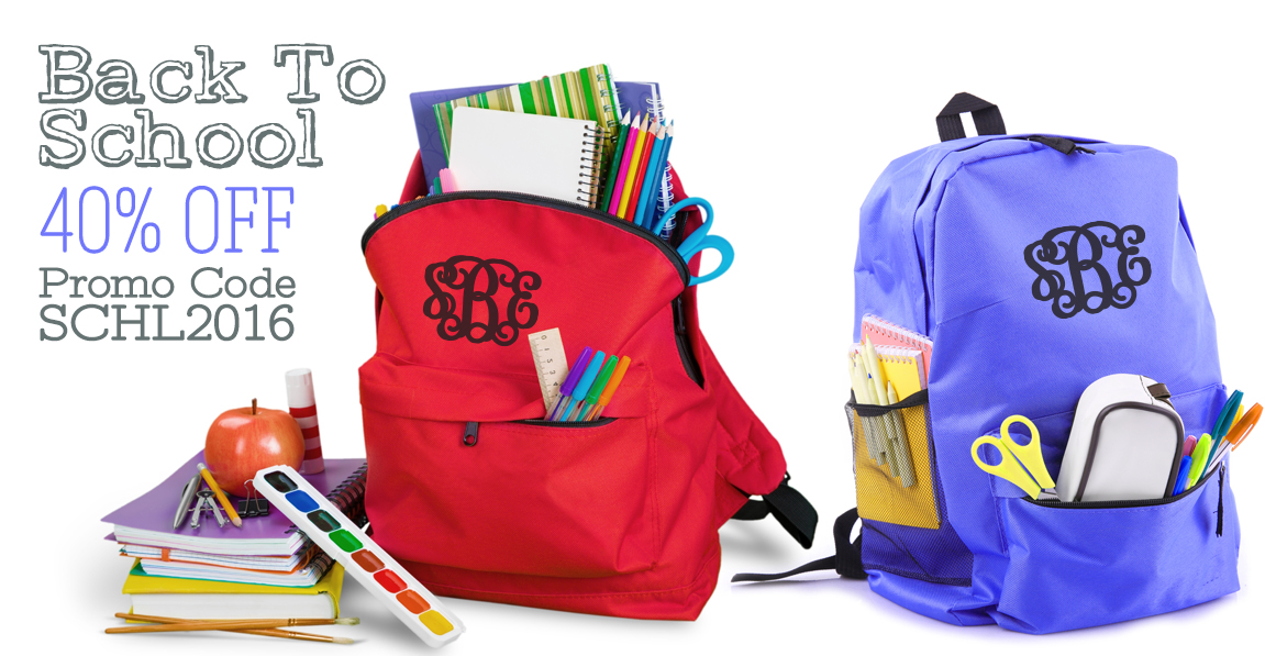 customized backpacks and school supply