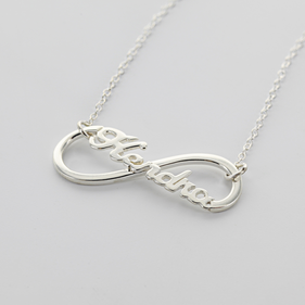 Sterling Silver Infinity Name Necklace