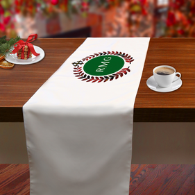 Initial Center Personalized Table Runner