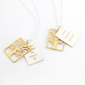 Inspirational Family Necklace in Sterling Silver