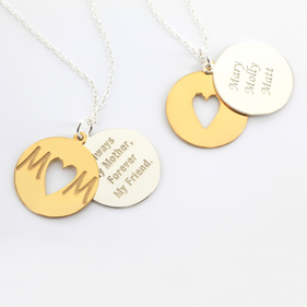 Inspirational Necklace for Mom in Sterling Silver