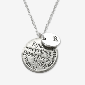 Inspirational Pendant Necklace Personalized with Charm
