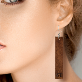 Leather Dangle Drop Earrings