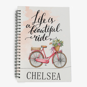 Life Is A Beautiful Ride Personalized Spiral Notebook