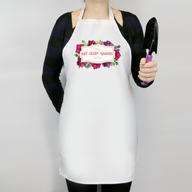 Life Is Simple Eat Sleep Garden Personalized Apron